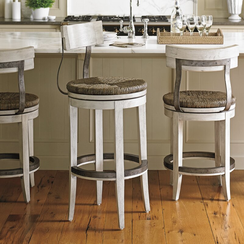 Lexington oyster bay quot swivel bar stool reviews wayfair